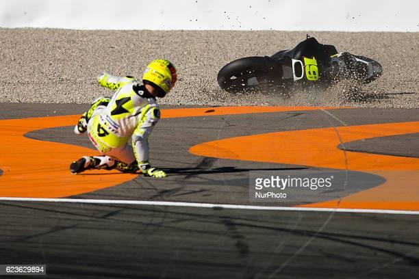 Alvaro Bautista from Spain of PullampBear Aspar Team during the colective tests of Moto GP at Circuito de Valencia Ricardo Tormo on November 16th...