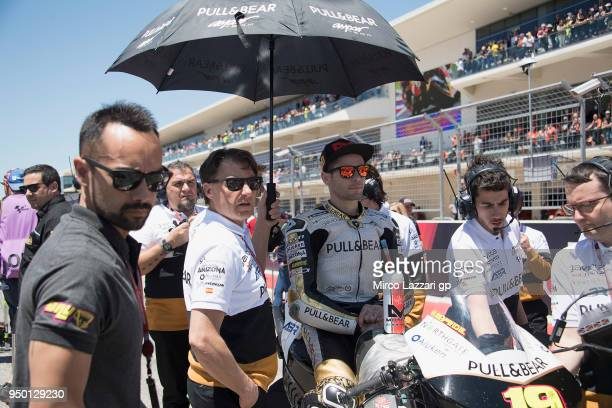 Alvaro Bautista of Spain and Angel Nieto Team prepares to start on the grid during the MotoGP race during the MotoGp Red Bull US Grand Prix of The...