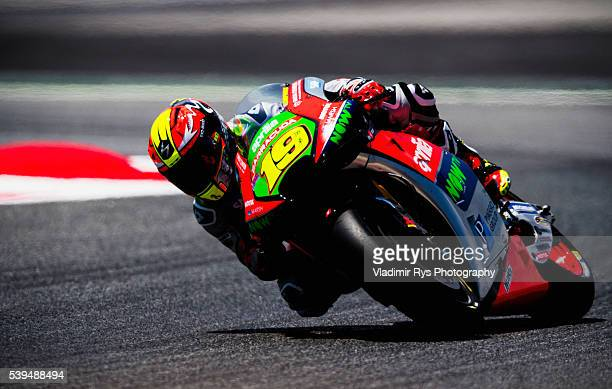 Alvaro Bautista of Spain and Aprilia Racing Team Gresini in action during the MotoGP of Catalunya at Circuit de Barcelona on June 05 2016 in Montmelo...