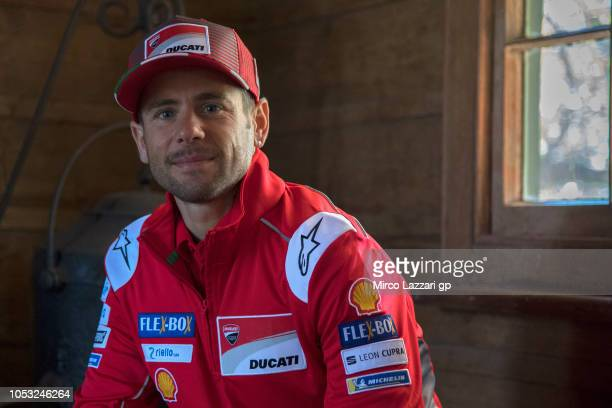 Alvaro Bautista of Spain and Ducati Team smiles during the preevent 'MotoGP Riders visiting the Churchill Farm' during the MotoGP of Australia...