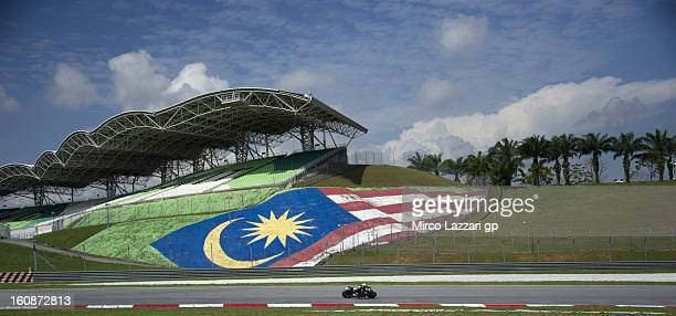 Alvaro Bautista of Spain and GoFun Honda Gresini rounds the bend during the MotoGP Tests in Sepang Day Five at Sepang Circuit on February 7 2013 in...