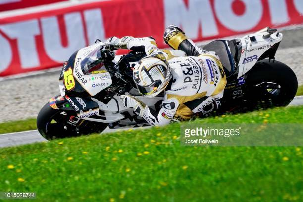 Alvaro Bautista of Spain Pull and Angel Nieto Team during the MotoGp of Austria Qualifying at Red Bull Ring on August 11 2018 in Spielberg Austria