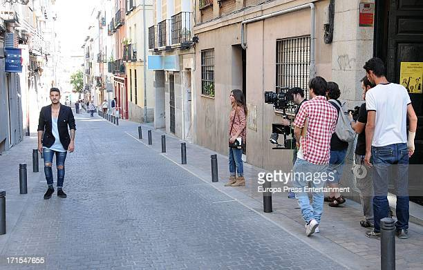 Alvaro Benito and Ursula Corbero on set during the filming of 'Lo Imposible' the new video of 'Pignoise' on June 25 2013 in Madrid Spain