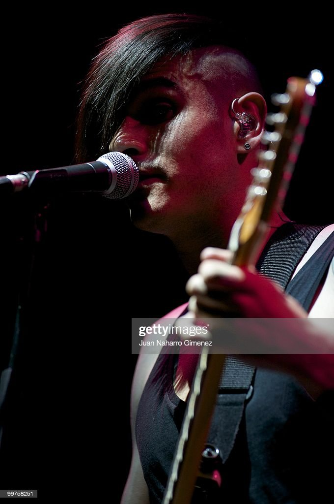 Alvaro Benito of Pignoise performs at Teatro Quinto to promote their new album on May 17, 2010 in Madrid, Spain.