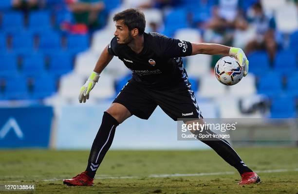 Alvaro Campos of Castellon in action during a Pre-Season friendly match between Mallorca and Castellon at Pinatar Arena on September 01, 2020 in...