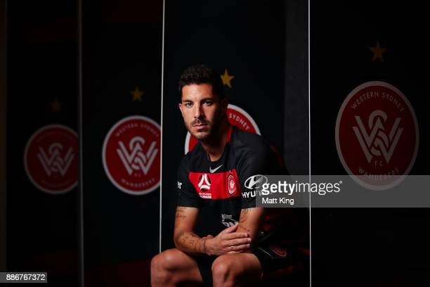 Alvaro Cejudo of the Wanderers poses during a joint Sydney FC and Western Sydney Wanderers ALeague media opportunity at ANZ Stadium on December 6...