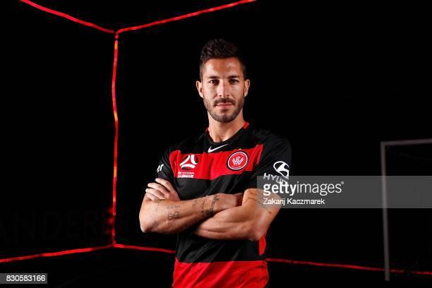 Alvaro Cejudo poses during the Western Sydney Wanderers 2017/18 ALeague Season kit launch on August 11 2017 in Sydney Australia