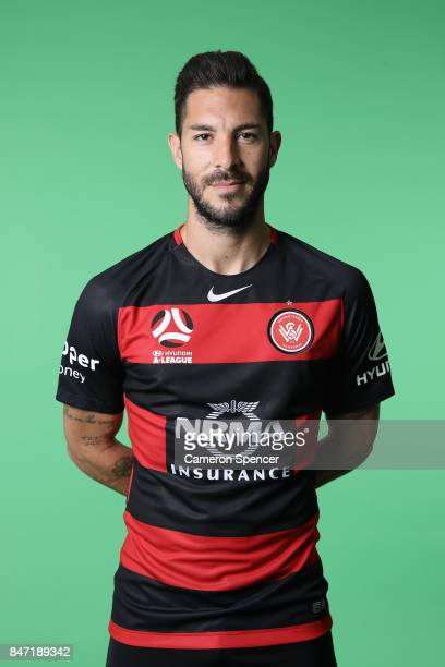 Alvaro Cejudo poses during the Western Sydney Wanderers ALeague headshots session at Fox Sports Studios on September 15 2017 in Sydney Australia