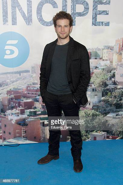 Alvaro Cervantes attends 'El principe' premiere at Callao cinema on January 30 2014 in Madrid Spain