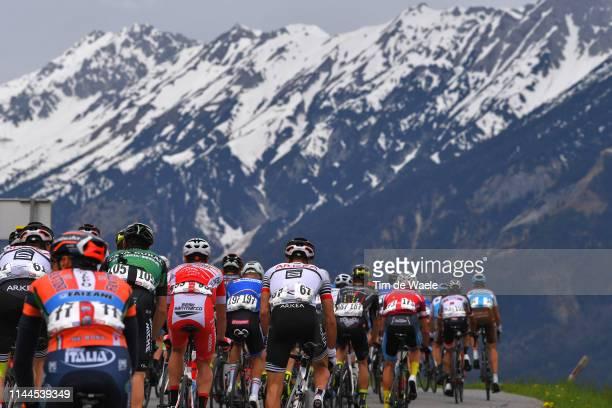 Alvaro Cuadros Morata of Spain and Team Caja Rural-Seguros Rga / Amaël Moinard of France and Team Arkéa - Samsic / Peloton / Mountains / Snow /...