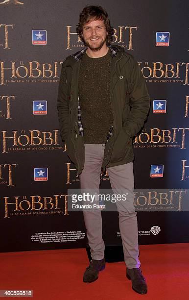 Alvaro de la Lama attends 'El Hobbit La batalla de los cinco ejercitos' premiere photocall at Kinepolis cinema on December 16 2014 in Madrid Spain