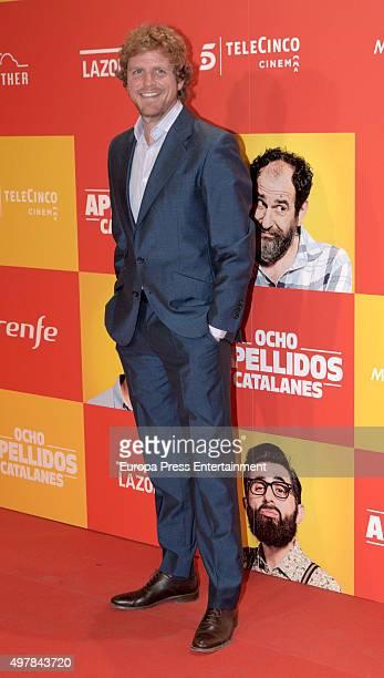 Alvaro de la Lama attends 'Ocho Apellidos Catalanes' premiere at Capitol cinema on November 18 2015 in Madrid Spain
