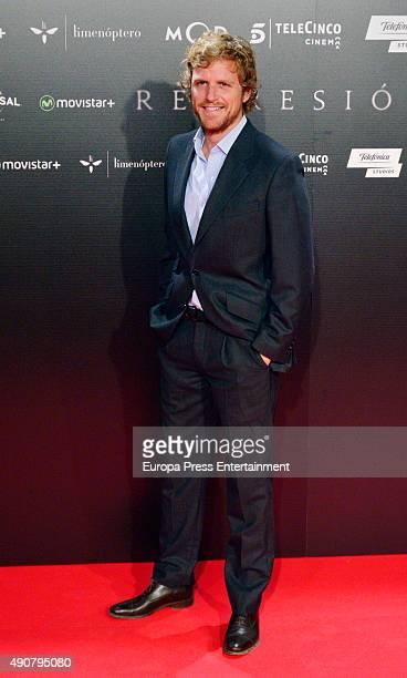 Alvaro de la Lama attends 'Regression' premiere on September 30 2015 in Madrid Spain