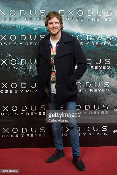 Alvaro de la Lama attends the 'Exodus Gods and Kings' premiere at the Kinepolis cinema on December 4 2014 in Madrid Spain