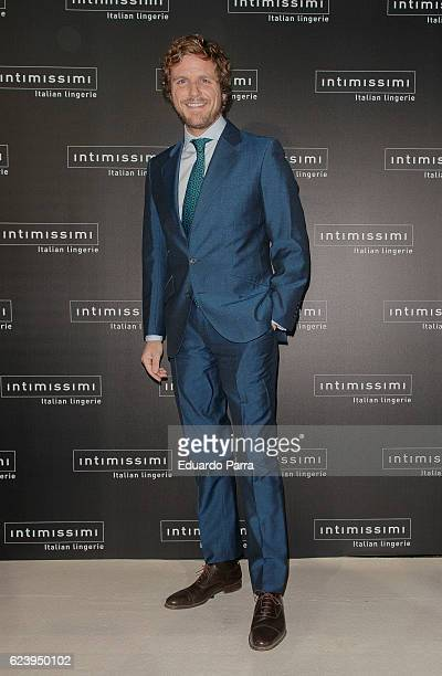 Alvaro de la Lama attends the 'Intimissimi 20 years anniversary' photocall at Italian embassy in Spain on November 17 2016 in Madrid Spain
