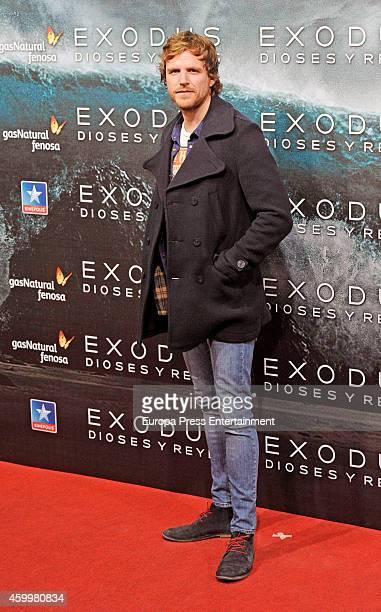 Alvaro de la Lama attends the premiere of 'Exodus Gods And Kings' at Kinepolis cinema on December 4 2014 in Madrid Spain