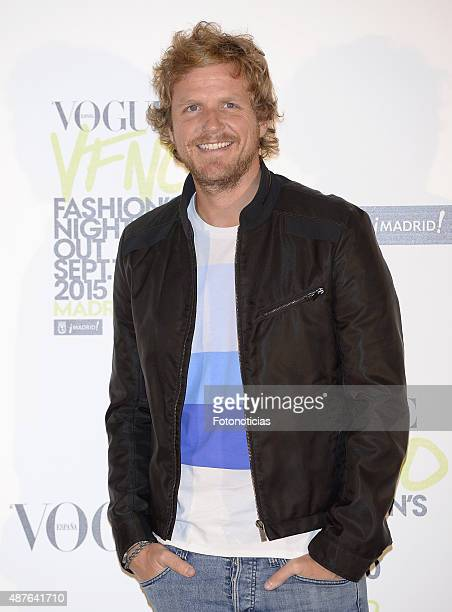 Alvaro de la Lama attends the Vogue Fashion Night Out Madrid 2015 photocall at the Vogue VIP Tent on September 10 2015 in Madrid Spain