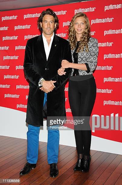 Alvaro de Marichalar and Ekaterina Anikieva attends the launch of 'Viajes Ocio Placer' Pullmantur's Magazine at Oui on March 31 2011 in Madrid Spain