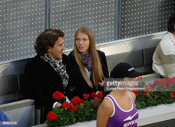 Alvaro de Marichalar and Ekatheryna Anikieva attend Mutua Madrilena Madrid Open on May 10 2010 in Madrid Spain