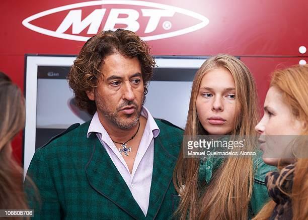 Alvaro de Marichalar and Ekatheryna Anikieva attend the ATP 500 World Tour Valencia Open tennis tournament at the Ciudad de las Artes y las Ciencias...