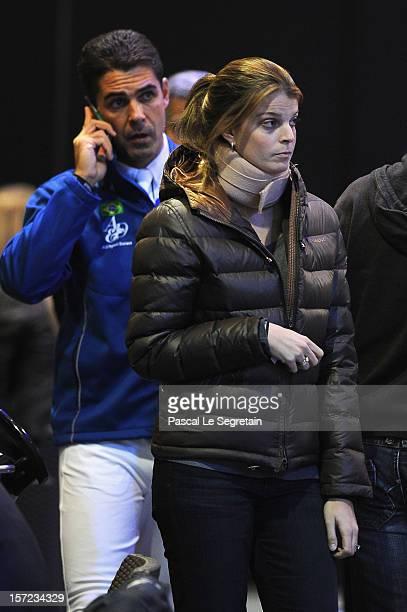Alvaro de Miranda and Athina Onasis attend the Gucci Paris Masters 2012 at Paris Nord Villepinte on November 30 2012 in Paris France