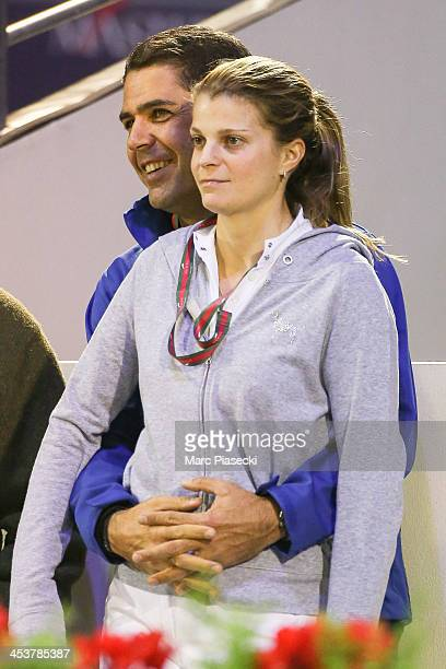 Alvaro de Miranda and wife Athina Onassis attend the 'Gucci Paris Masters 2013' at Paris Nord Villepinte on December 5 2013 in Paris France