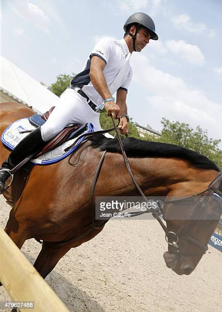 Alvaro de Miranda Neto aka Doda of Brazil competes at the Paris Eiffel Jumping 2015 held at the Champs de Mars on July 5 2015 in Paris France