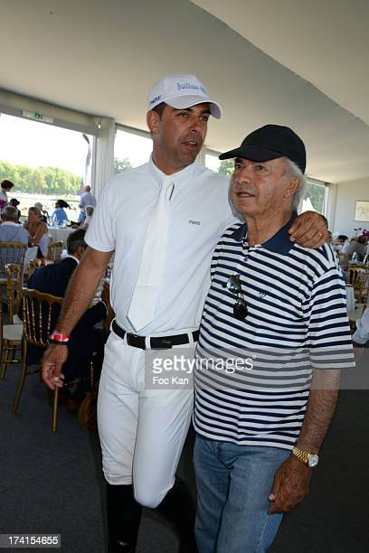 Alvaro de Miranda Neto and a guest attend the AL Sportswear 5th Anniversary during the Longines Global Champions Tour of Chantilly At the Hippodrome...