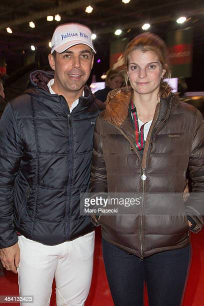 Alvaro de Miranda Neto and Athina Onassis attend the 'Gucci Paris Masters 2013' at Paris Nord Villepinte on December 7 2013 in Paris France