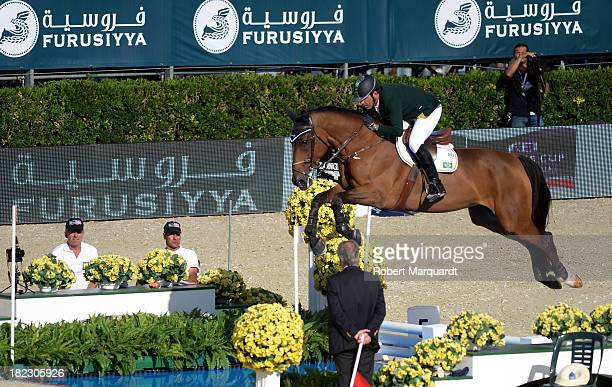 Alvaro de Miranda Neto of Brazil attends the 'CSIO Barcelona 2013 102nd International Show Jumping' on September 29 2013 in Barcelona Spain