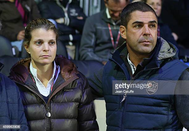 Alvaro de Miranda Neto of Brazil better known as Doda and his wife Athina Onassis of Greece compete during day 1 of the Gucci Paris Masters 2014 at...