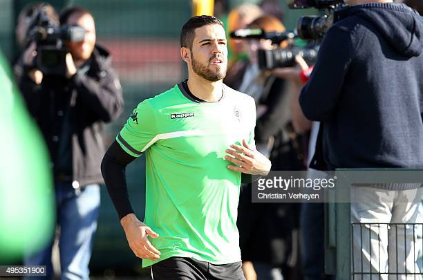 Alvaro Dominguez of Borussia Moenchengladbach before the training session of Borussia Moenchengladbach at BorussiaPark on November 02 2015 in...