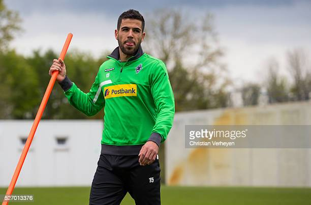 Alvaro Dominguez of Borussia Moenchengladbach during a Training Session of Borussia Moenchengladbach at BorussiaPark on April 29 2016 in...
