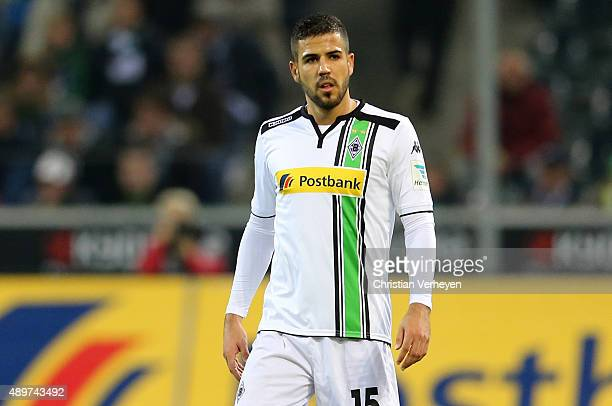 Alvaro Dominguez of Borussia Moenchengladbach during the Bundesliga match between Borussia Moenchengladbach and FC Augsburg at BorussiaPark on...