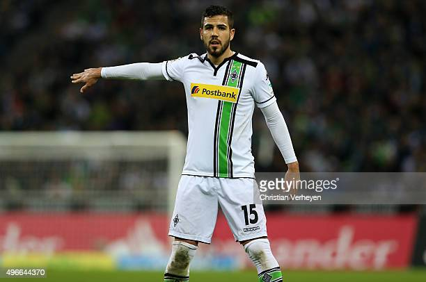 Alvaro Dominguez of Borussia Moenchengladbach during the Bundesliga match between Borussia Moenchengladbach and FC Ingolstadt at BorussiaPark on...