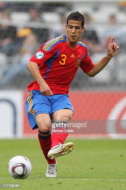 Alvaro Dominguez of Spain during the UEFA European Under21 Championship semifinal match between Belarus and Spain at the Viborg Stadium on June 22...