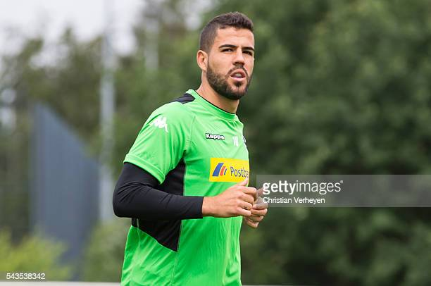 Alvaro Dominguez Soto of Borussia Moenchengladbach during a training session at BorussiaPark on June 29 2016 in Moenchengladbach Germany