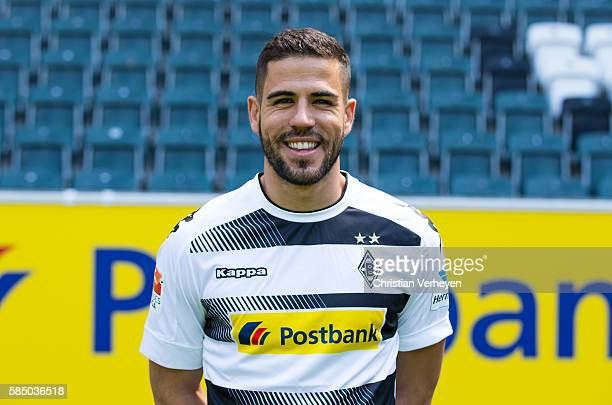 Alvaro Dominguez Soto of Borussia Moenchengladbach pose during the Team Presentation of Borussia Moenchengladbach at BORUSSIA Park on August 01 2016...