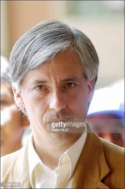 Alvaro Garcia Linera Vice President of the MAS party votes at the Agusitn Aspiazu school in La Paz Bolivia on November 17th 2005