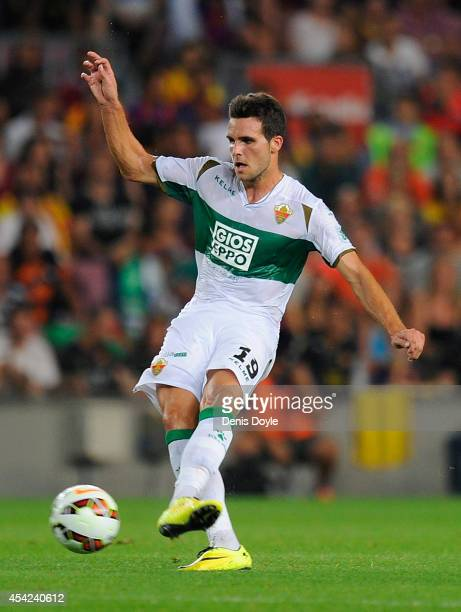 Alvaro Gimenez of Elche CF in action during the La Liga match between FC Barcelona and Elche FC at Camp Nou stadium on August 24 2014 in Barcelona...