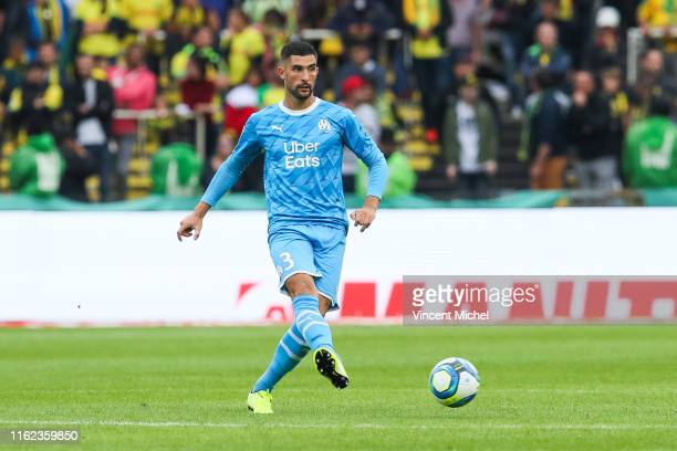 Alvaro Gonzalez of Marseille during the Ligue 1 match between FC Nantes and Olympique Marseille at Stade de la Beaujoire on August 17, 2019 in...