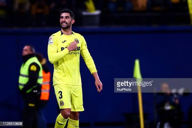 Alvaro Gonzalez of Villarreal CF celebrate after scoring the 10 goal during spanish La Liga match between Villarreal CF vs Sevilla FC at La Cermaica...