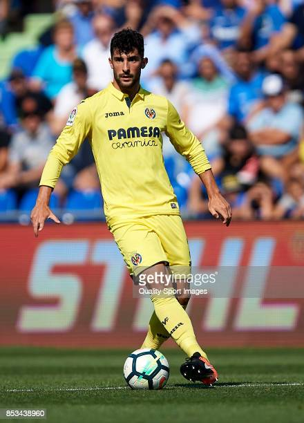 Alvaro Gonzalez of Villarreal in action during the La Liga match between Getafe and Villarreal at Coliseum Alfonso Perez on September 24 2017 in...