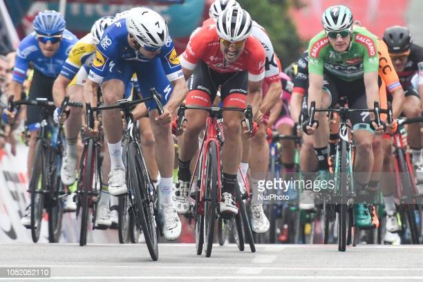 Alvaro Jose Hodeg of Colombia and Quick - Step Floors Team sprints to win the fifth stage - the Vestel Stage 137.3km Selcuk - Manisa, of the 54th...