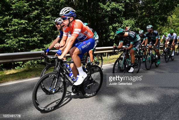 Alvaro Jose Hodeg of Colombia and Team Quick-Step Floors Red Leader Jersey / during the 33rd Deutschland Tour 2018, Stage 2 a 196km stage from Bonn...