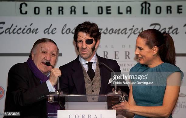 Alvaro Luis Juan Jose Padilla and Alicia Senovilla attend the 'Pata Negra' Awards at Corral de la Moreria on February 21 2013 in Madrid Spain