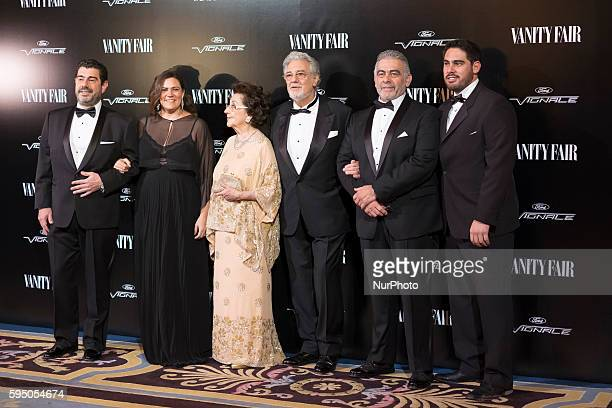 Alvaro Maurizio Domingo and his wife Marta Ornelas and husband Spanish tenor Placido Domingo Jose Placido Domingo and Placido Domingo Jr attend the...