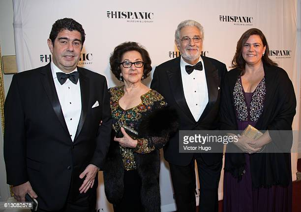 Alvaro Maurizio Domingo Marta Domingo Placido Domingo attends The Hispanic Society Museum and Library 2016 Gala at Metropolitan Club on October 6...