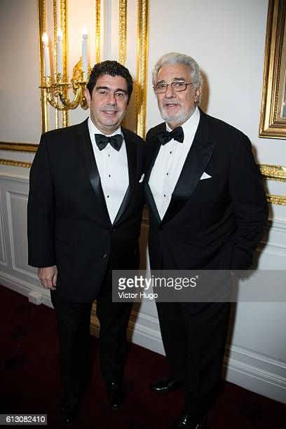 Alvaro Maurizio Domingo Placido Domingo attends The Hispanic Society Museum and Library 2016 Gala at Metropolitan Club on October 6 2016 in New York...