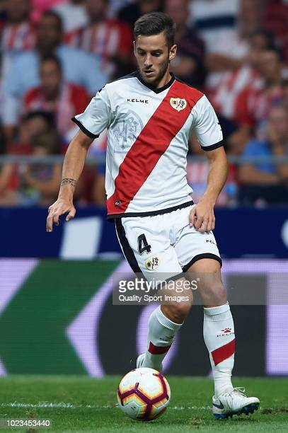 Alvaro Medran of Rayo Vallecano in action during the La Liga match between Club Atletico de Madrid and Rayo Vallecano de Madrid at Wanda...